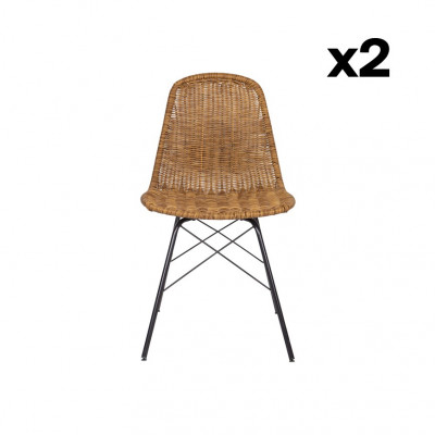 2er-Set Gartenstühle Spun | Natürlich
