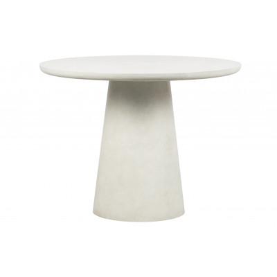 Esstisch Damon 100 cm | Lehm | Weiß