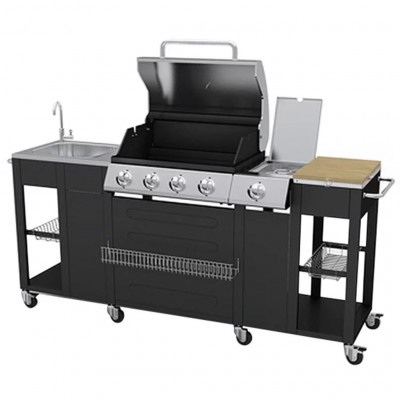 Outdoor Kitchen/Gas Barbecue Montana 4+1 Burners
