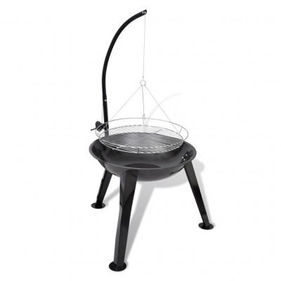 Round Hanging Charcoal Barbecue