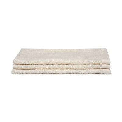 Washcloth Pure Cream White | Set of 3