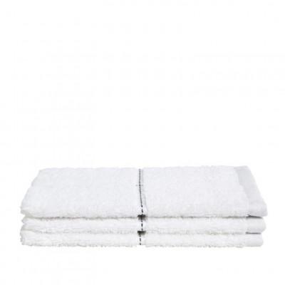 Washcloth Grid White | Set of 3