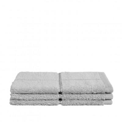 Washcloth Grid Light Grey | Set of 3