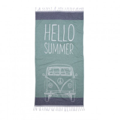 Hammam Cloth Hello Summer   Green