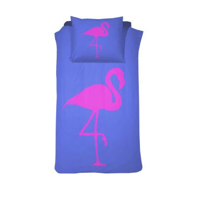 Bettbezug Flamingo Forever | Blau