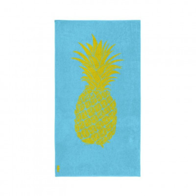 Beach Towel Pineapple   Light Blue