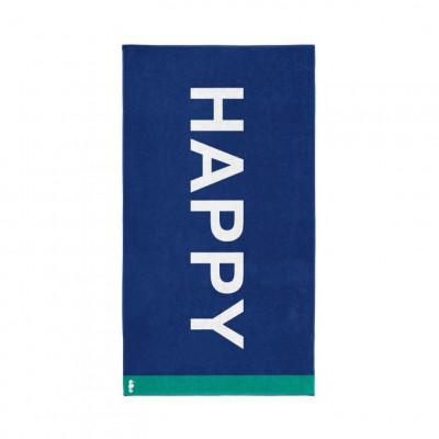 Beach Towel Happy   Blue