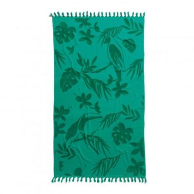 Beach Towel Hammam Tropical   Green