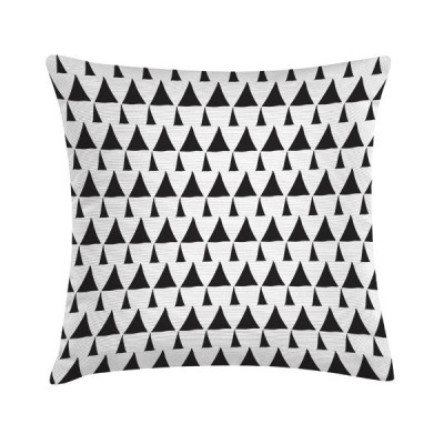 Pillow Draw Triangles Pattern White