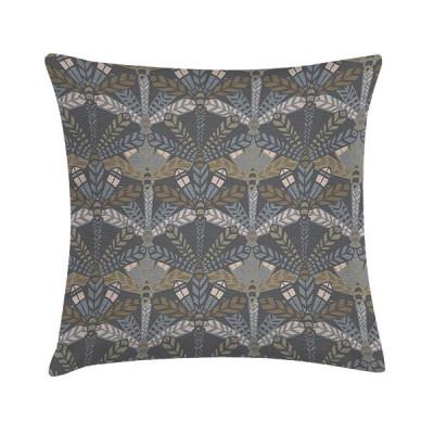 Pillow Dark Grey Leaf