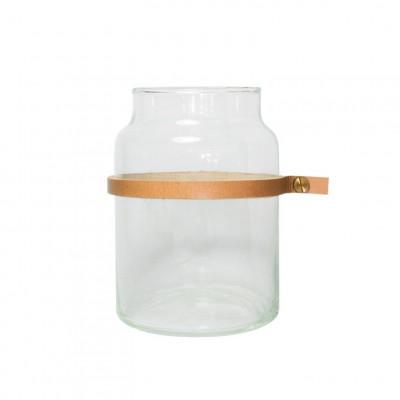 Water Glass Wrap Me Mini Brown   Ø10 x 14 cm