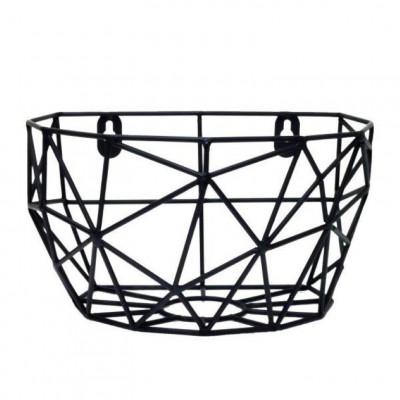 Wall Basket Thanwa M | Black