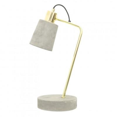 Table Lamp Fiona | Concrete Shiny Brass