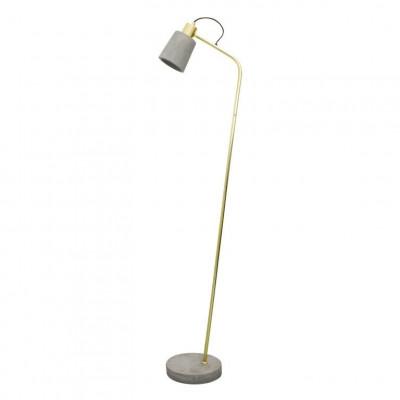 Floor Lamp Fiona | Concrete Shiny Brass