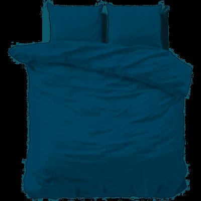 Bettbezug Stein Gewaschen   Blau