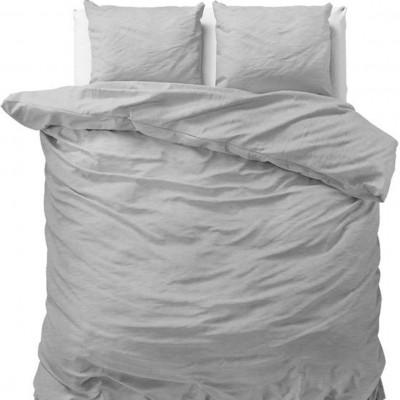 Bettbezug Stein Gewaschen   Grau