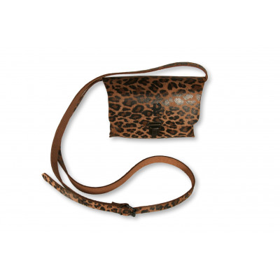 Umhängetasche Kate Medium | Leopard Dunkel