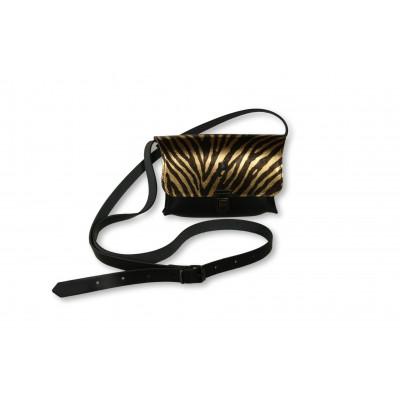 Umhängetasche Kate Medium   Zebra Gold