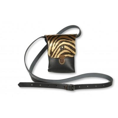 Umhängetasche Kate Small   Zebra Gold