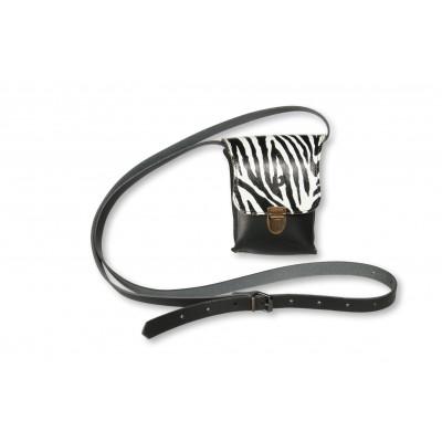 Umhängetasche Kate Small   Zebra Weiß