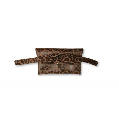 Gürteltasche Kate   Dunkler Leopard