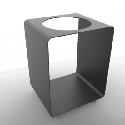 Tisch BloQ mit Loch für FiQ Barbecue | Schwarz