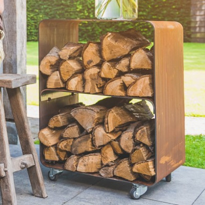 Holzlagerung Mobile BloQ | Rost