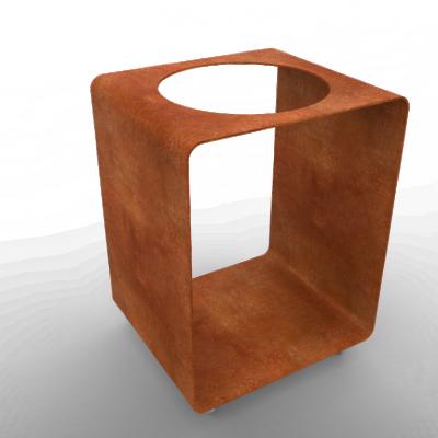 Tisch BloQ mit Loch für FiQ Barbecue | Rost