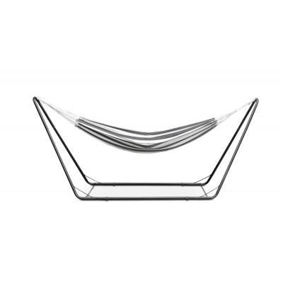 Hängematte mit Ständer | Schwarz/Weiss