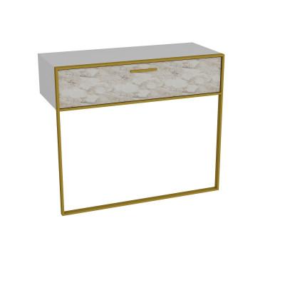 Wandtisch Polka | Weiß / Gold