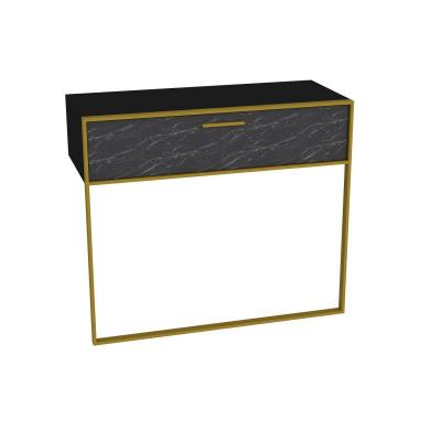 Wandtisch Polka | Schwarz / Gold