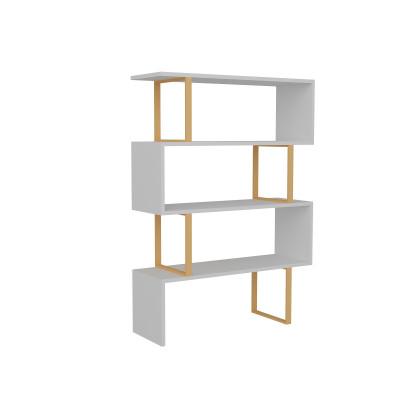 Bücherregal Adriana | Weiß / Gold