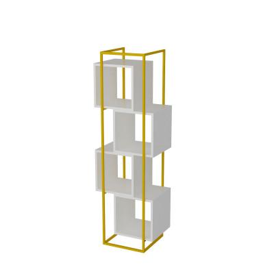 Bücherregal Prada | Weiß / Gold