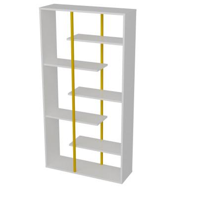Bücherregal Presto | Weiß / Gold