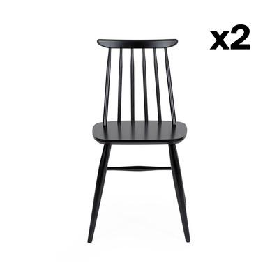 2-er Set Stühle Aino | Schwarz