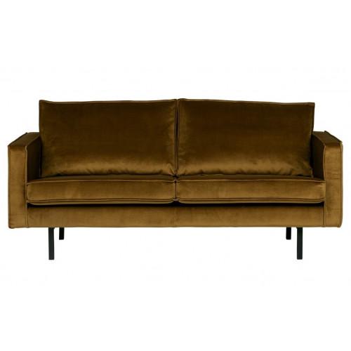 Rodeo 2,5 Seater Velvet Sofa | Honey Yellow