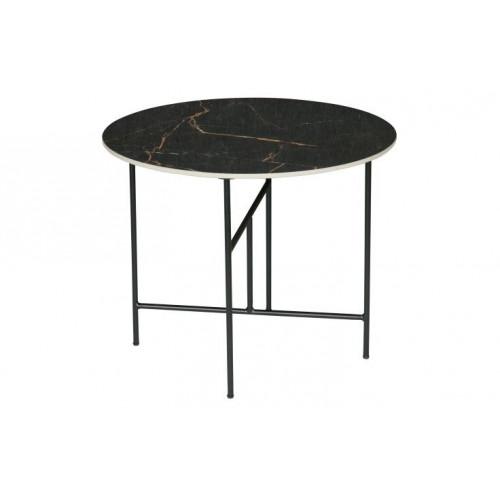 Table d'Appoint Marbre Vida Ø 60 cm | Noir