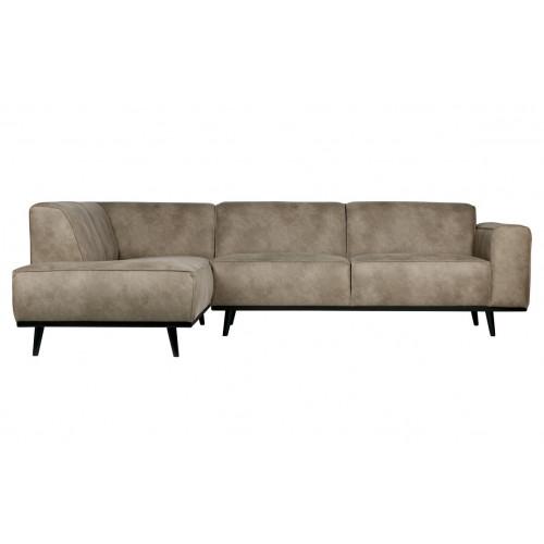 Sofa mit Récamiere Statement | Hellgrau