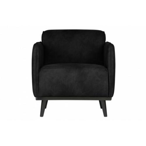 1 Seater Sofa Statement   Black