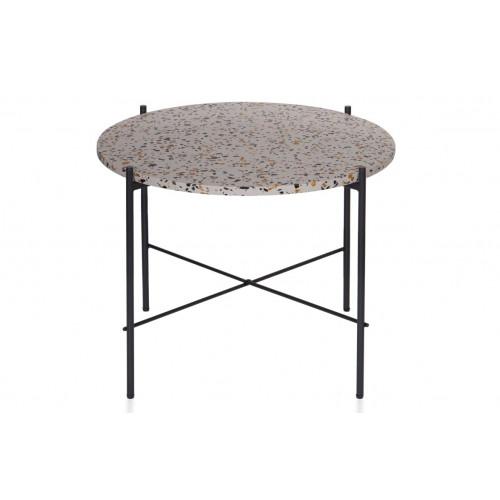 Side Table Vayen Terrazzo 49 x 63   Grey