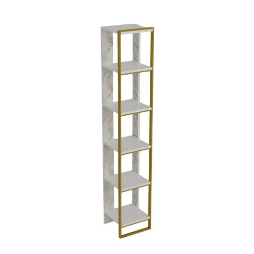 Bookshelf Polka   White / Gold