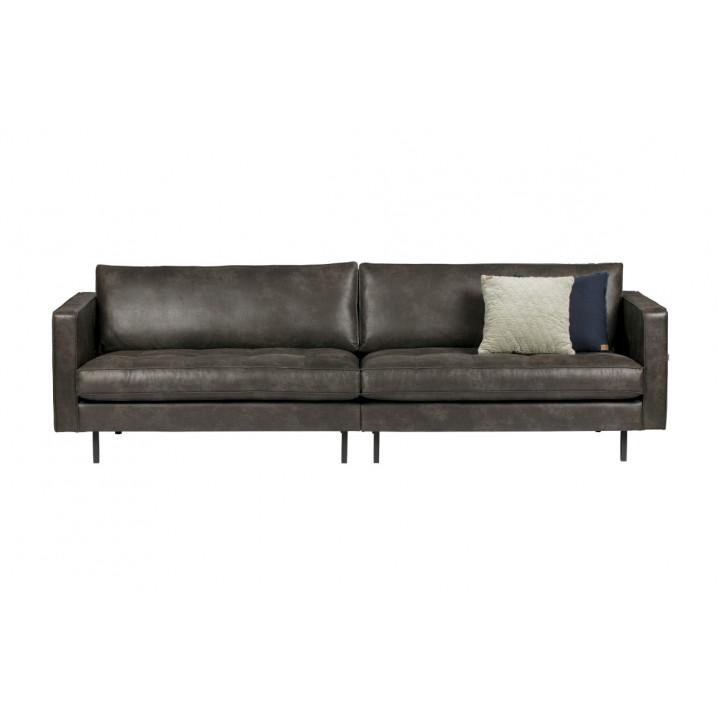 3er-sofa Classic Rodeo | Schwarz