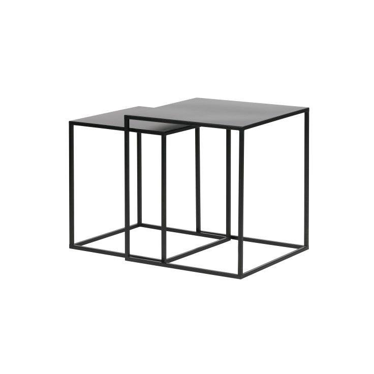 Side Tables Zita Set of 2 | Black
