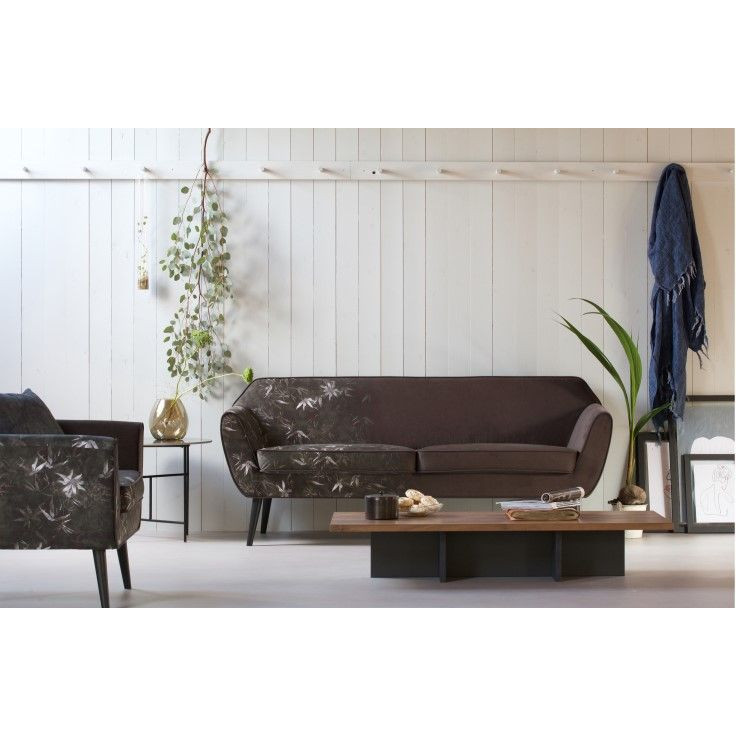 Side Table James | Wood & Black