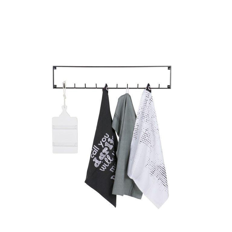 Garderobe 10 Haken Meert   Schwarz