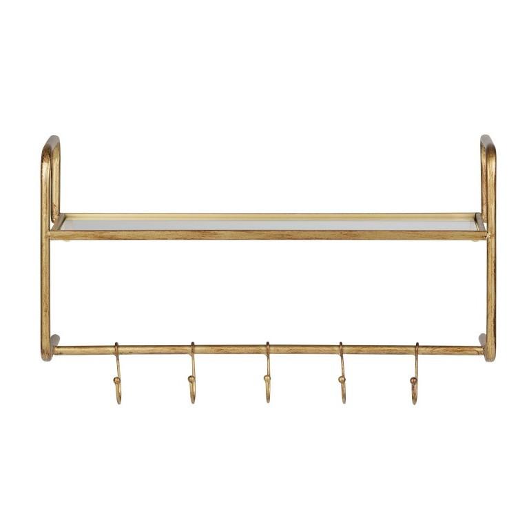 Hanging Coatrack Hatstand   Brass