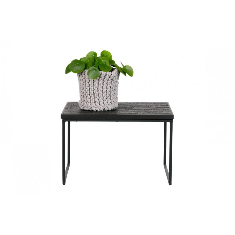 Side Table Sharing Square   Black