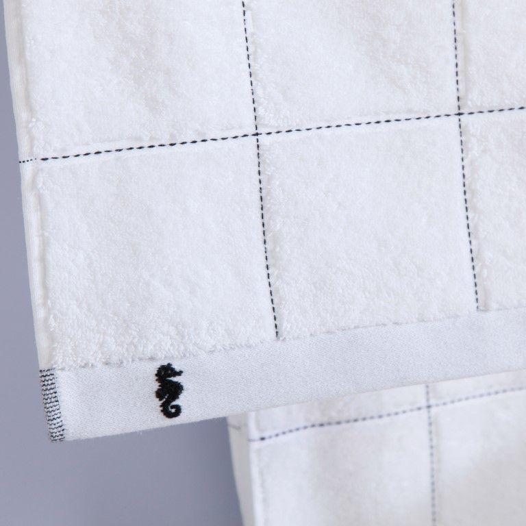 Bath Mat Grid   White