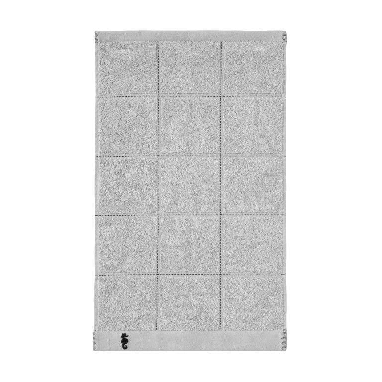 Guest Towel Grid Light Grey | Set of 3