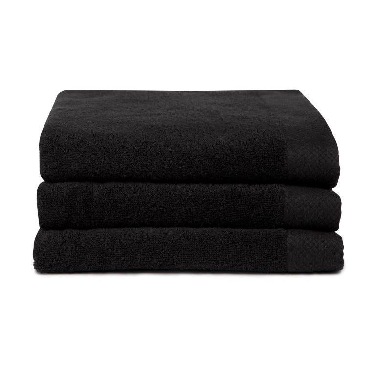 Bath Towel Pure Black | Set of 3